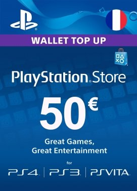 cle cd Carte Playstation Network 50 €