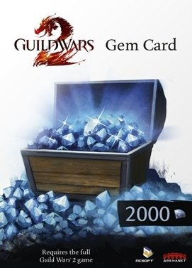cle cd Guild Wars 2: 2000 Gems